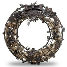 Cork Cage Wine Wreath, from HomeWetBar.com