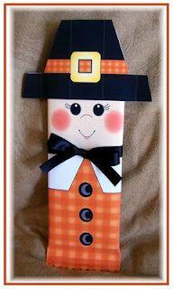 Free Printable-Thanksgiving Pilgrim Candy Bar Wrappers~