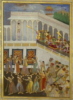Bildschirmfoto: Explore the Royal Collection Online Mughal Miniature Paintings, Mughal Paintings, Indian Paintings, Indiana, Persian Pattern, The Royal Collection, Mughal Empire, Krishna Art, Travel Illustration