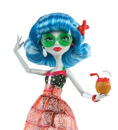 Monster High Ghoulia Yelps Beach Puppe Mattel W9181 Strand: Amazon.de: Spielzeug