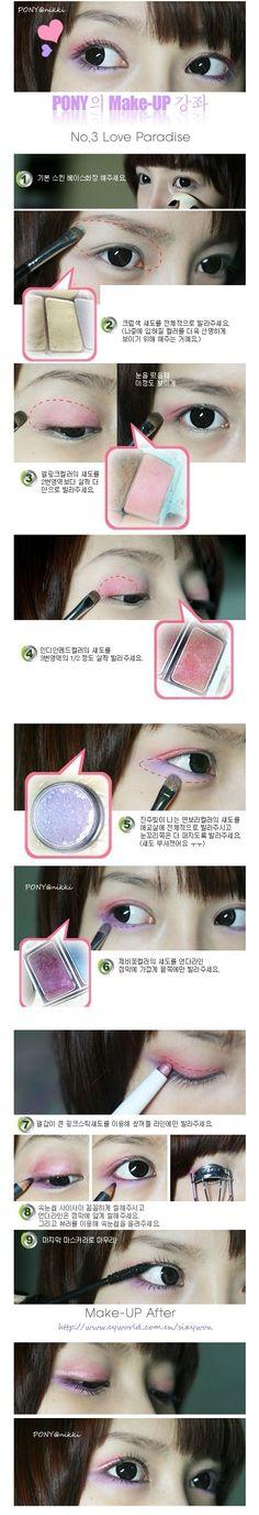 Love Pony (Korean Ulzzang) and her make up!