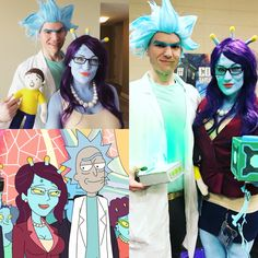 Rick and Unity from Rick and Morty! #couplescosplay #cosplay #rickandmorty #ricksanchez #unity