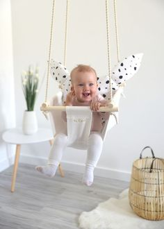 Other – Byel Basic Anima baby swing, indoor swing, decore – a unique product by Byel on DaWanda Toddler Toys, Baby Toys, Swing And Slide, Kids Dress Wear, Indoor Swing, Baby Swings, Baby Milestones, Our Baby, Kids Furniture
