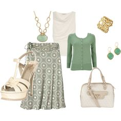 My Easter outfit, probably would fall off the heels, but I love the shell top