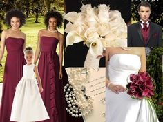 Burgundy and Ivory <3 : PANTONE WEDDING Styleboard : The Dessy Group