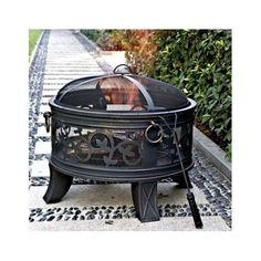 Patio Fire Pit Round Fireplace Deck Yard Garden Wood Burner  #Granada #patiofirepit