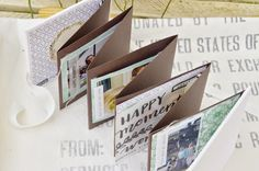 This is pure happiness (Leporello) Card Book, Mini Books, Mini Albums, Book Art, Photo Gifts, Paper Crafts, Envelope, Scrapbooking, Minis