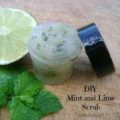 DIY: Mint and Lime Sugar Scrub
