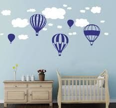 Beautiful Hot Air Balloons Clouds Wall Stickers Boys And Girls Nursery Baby Room Wall Vinyl Decor Kids Bedroom Decoration * Special discounts just for this time only : Nursery Decor