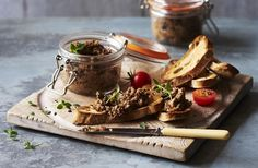 This vegan and gluten-free pâté recipe is made with dried porcini and fresh wild mushrooms. See more delicious vegan and gluten-free recipes at Tesco Real Food. Easy Christmas Dinner, Vegan Christmas, Christmas Recipes, Christmas Desserts, Christmas Eve, Pate Recipes, Vegan Recipes, Yummy Recipes, Toast Noel
