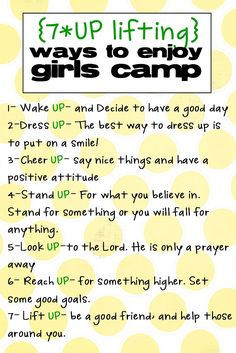 This-n-that; a little crafting: 7-UP back to school 7 uplifting ways to enjoy Girls' Camp LDS YW