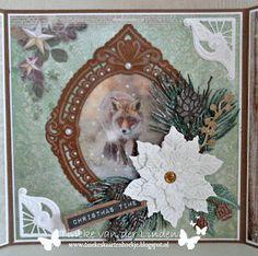 Christmas Time, Christmas Cards, Marianne Design Cards, Scrapbook Cards, Scrapbooking, Winter Cards, Reuse, Moose Art, Decorative Plates