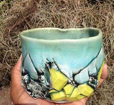 Rock Gem Stone Porcelain Trinket Bowl Mug; Tiffany Thomas