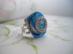 Hey, I found this really awesome Etsy listing at https://www.etsy.com/listing/94001729/turquoise-zipper-statement-ring