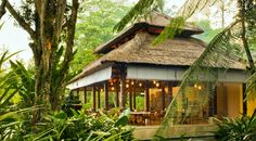 Beautiful Rural Home Resort in Bali: View Of Outdoor Restaurant In Como Uma Ubud Resort
