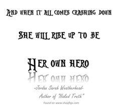 Hero. Jordan Sarah Weatherhead