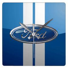 Ford Emblem - 3D Badge Special Edition Square Wall Clock
