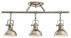 Kichler No Family Association 3 Light Track Lighting in Polished Nickel traditional-track-lighting