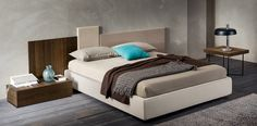 Square #letto #bed #letto imbottito #padded bed #letto in legno #wooden bed