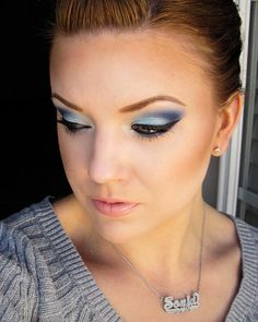 Blue for Colon Cancer Awareness! http://www.makeupbee.com/look_Blue-for-Colon-Cancer-Awareness_29125