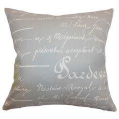 Saloua Typography Cotton Throw Pillow