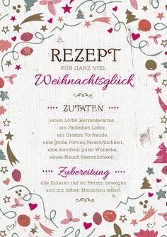 Artikel - Grafik Werkstatt Bielefeld Rezept für Weihnachten, schöne Grußkarte…
