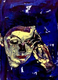 "Saatchi Art Artist CARMEN LUNA; Painting, ""21-GRETA GARBO por Carmen Luna"" #art"