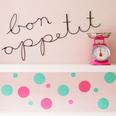 Bon Appetit Wire Wall Sign