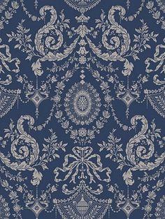 DecoratorsBest - Detail1 - CS 88/10043 - WOOLVERSTON BLUE - Wallpaper - DecoratorsBest