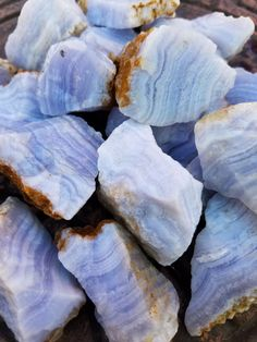 Blue Lace Agate - Natural Chunks from Africa