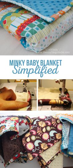 Minky Baby Blanket Instructions via @craftingchicks