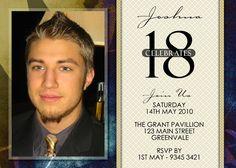 18th birthday invitations for boys Google Search 18th Birthday