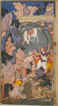 The sons of Sagara discover the stolen sacrificial horse