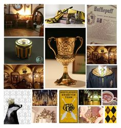 """""""Hufflepuff"""" by panenguin ❤ liked on Polyvore featuring art, harrypotter, Hufflepuff and HousePride"""