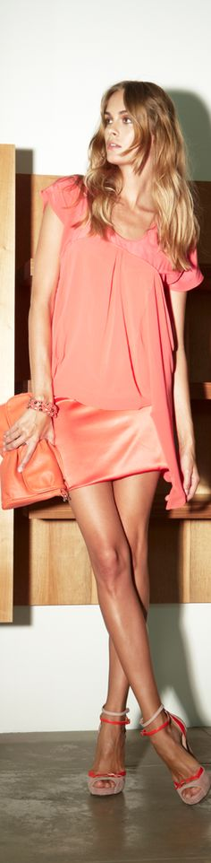 ~Peach. #peachcolor #peach - wow!! | Fashion for women