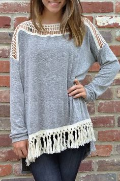 top with crochet details