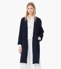 Mango Wool-Blend Overcoat