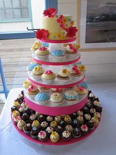 Colorful Wedding Cupcakes by jdesmeules (Blue Cupcake), via Flickr
