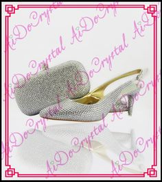 9c418cf24c568 Aidocrystal slingback summer shoes sexy high heels silver crystal kitten heel  women italian matching shoes and bags for party