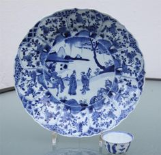 A Chinese Porcelain Blue and White Dish Kangxi Period 1662 1722 | eBay
