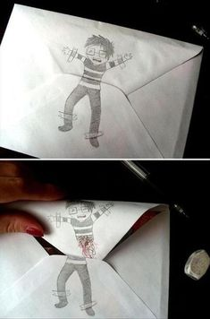 LOL... I want to start doing this sort of thing on my water-bill envelopes