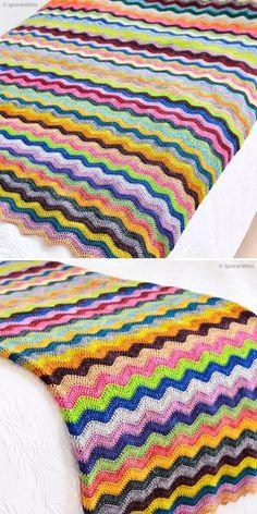 Crochet Ripple Stitch - Free Patterns and Inspiration | Crochetpedia Crochet Baby Hats Free Pattern, Afghan Crochet Patterns, Free Crochet, Crochet Ideas, Crochet Afghans, Crochet Blankets, Crochet Mat, Crochet Ripple, Chevron Baby Blankets