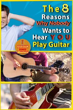 The 8 Reasons Why Nobody Wants to Hear YOU Play Guitar - The top 8 music sins that all of us might do at some point, and the solution. A humoristic post today, have fun reading! Singing Lessons, Singing Tips, Guitar Tips, Guitar Songs, Guitar Lessons For Beginners, Cool Guitar, Playing Guitar, Have Fun, Post Today