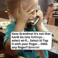 saturday,humor-weekend saturday humor laugh as technology advances we're' going to become the grandma lol Funny Baby Memes, Funny Babies, Haha Funny, Funny Jokes, Hilarious, Funny Stuff, Humor Grafico, Sarcastic Quotes, Funny Cartoons