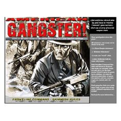 """AMERICAN GANGSTER Starter boxed set!   Become a gangster of the early 20th century when the law was made to be broken. Arm yourself with an arsenal such as the infamous """"Tommy Gun"""", Molotov Cocktails or a simple Colt 45 in various scenarios against the law that is out to stop you from taking what is yours!"""