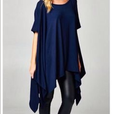 Beautiful Navy Blue Top, dressy or casual Cherish Navy Blue Dressy or Casual Top, Just in time for Spring! Gently used Cherish  Tops