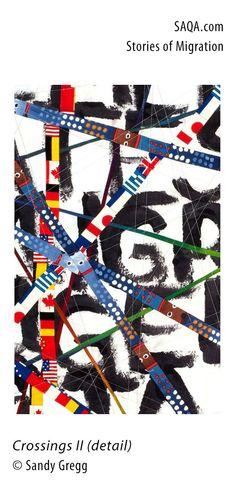 """Crossings II"" (detail) - art quilt by Sandy Gregg"