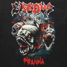Gonna 3-D print this logo #exodus #exodusband #piranha #thrash #thrashmetal #3dprinting #art by devmanw4lking