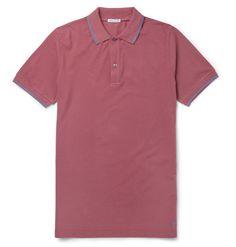 da5dc500638ac Mens Designer Polo Shirts, Pique Polo Shirt, Stylish, Cotton, Tops, Contrast