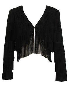 fringed and boned jackets | ... las western style bones fringe black suede leather handbag fringe